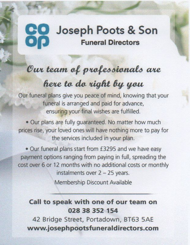 Joseph Poots and Son Advert