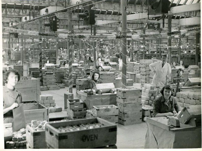 Inside the Factory at Christmas